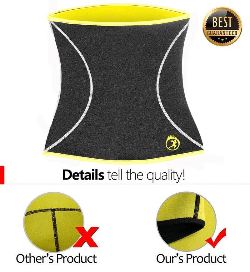 Image 5 - NINGMI Male Body Shaper Slim Waist Trainer Cincher Corset Neoprene Sauna Modeling Belt Shapewear Strap Girdle Slimming Underwear-in Shapers from Underwear & Sleepwears on AliExpress