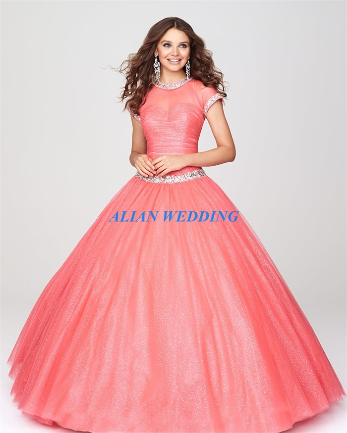 Latest Design Vintage Quinceanera Dress Short Sleeves 2015