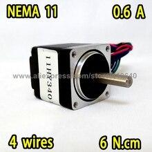 Free Shipping Nema 11 Stepper Motor model  11HY3401 28HS3306A4 0.6A 6 N.cm Apply for Mounter or Dispenser Printer
