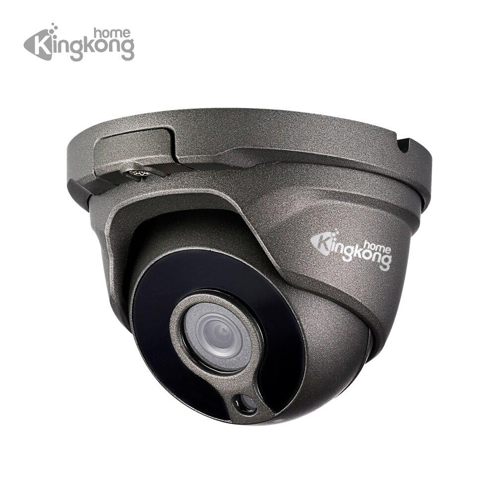 Kingkonghome 2.8mm objectif grand Angle 1080 P caméra IP H.265 POE métal étanche Surveillance de sécurité dôme extérieur caméras IR IP