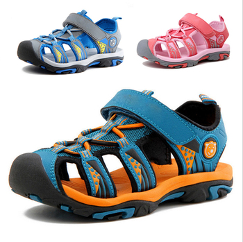 GAORUI PA boy's shoes girls baby summer sandals new beach children kids shoes closed toe pu leather