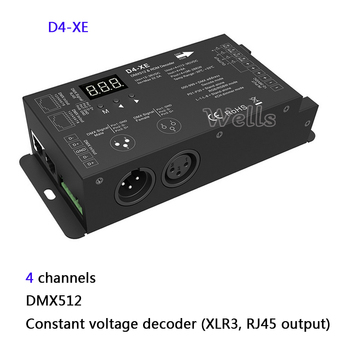 цена на 4 Channel Constant Voltage or Constant Current DMX512 & RDM Decoder with digital display 4CH DMX512 led Decoder controller