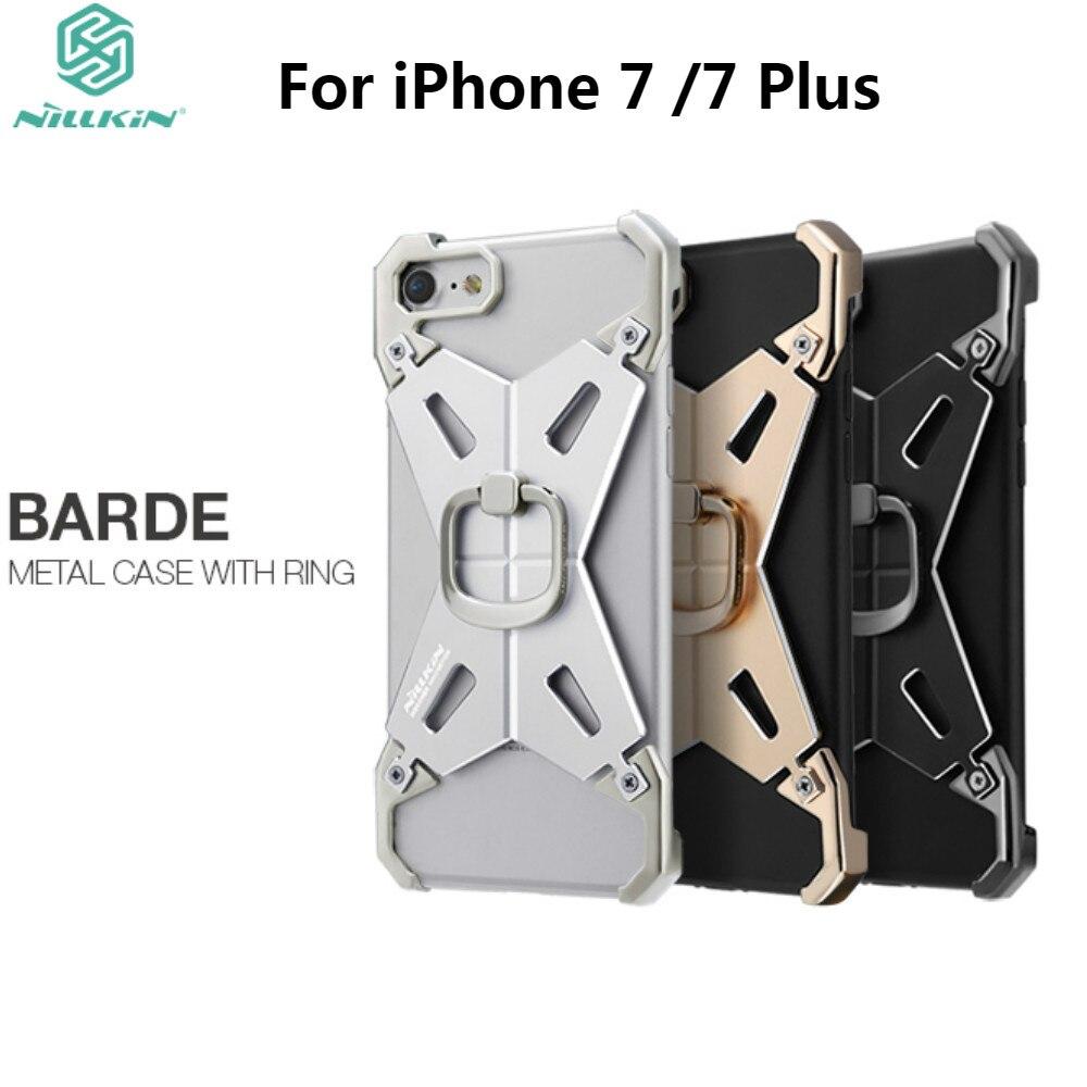 NILLKIN Barde Metal Case med ringhållare för iPhone 7 7 Plus Cool - Reservdelar och tillbehör för mobiltelefoner