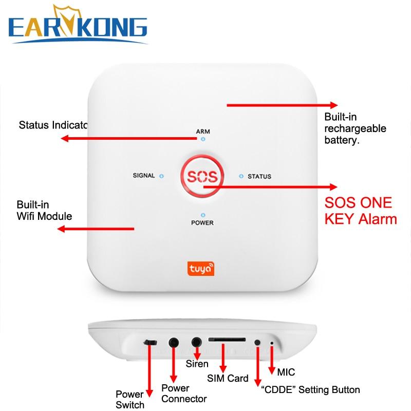 Tuya APP Smart WiFi GSM Home Security GSM Alarm System