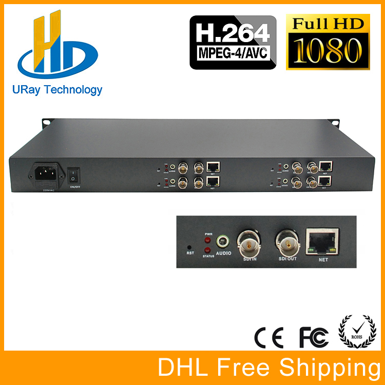 DHL Free Shipping 4 Channels HD 3G SDI IP Video Audio Encoder H.264 With 4 Channels HD /3G SDI Loop Out touchstone teacher s edition 4 with audio cd