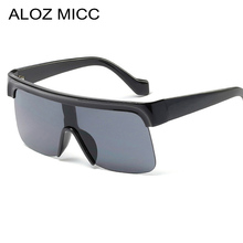 ALOZ MICC Fashion Women Semi-Rimless Square Sunglasses Men 2019 Oversized Sun Glasses Vintage Black Shield Goggle Q07