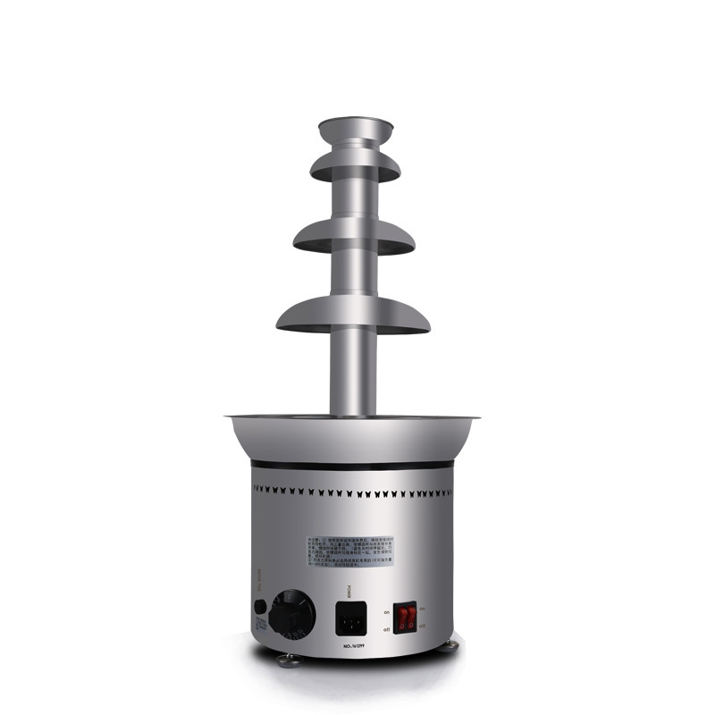 110V/220V Commercial Stainless Steel Electric Chocolate Fountain 4 Tiers 58cm Home Party Company Using Chocolate Machine 10oz stainless steel 110v 220v electric commercial popcorn machine with temperature control