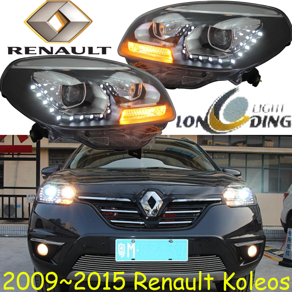 Koleos headlight,2009~2015,Fit for LHD,Free ship!Koleos fog light,2ps/set+2pcs Ballast;Koleos roewe headlight 550 2009 2013 fit for lhd and rhd free ship roewe fog light 2ps set 2pcs aozoom ballast roewe 550