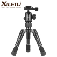 Free shipping XILETU FM5 MINI Aluminum Tripod Stable Desktop Tripod&Ball Head For Digital camera Mirrorless camera Smart phone