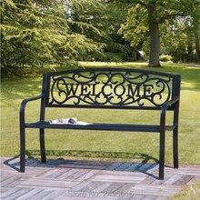 50 дюймов Патио Сад скамейка Парк двор уличная мебель литой алюминиевый каркас стул для веранды