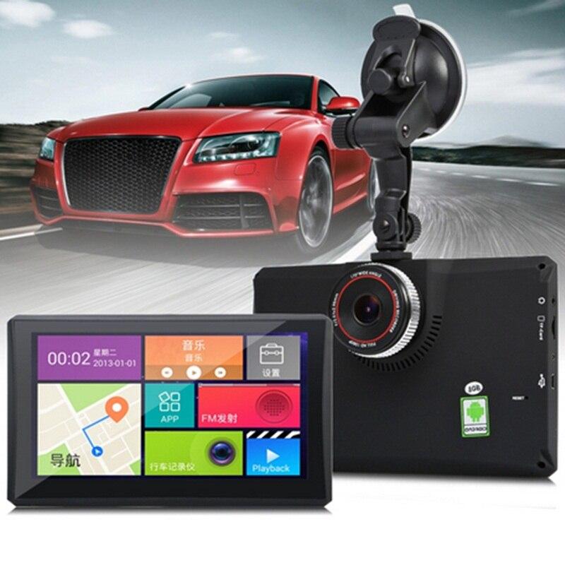 7 Car DVR GPS Navigator Android 1080P Portable Dash Cam GPS Navigation Bluetooth WIFI AV-IN Dashcam GPS Free Maps for Tourist 7 inch gps pnd portable car gps navigator new maps for russia satellite navigation