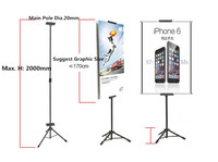 POP Metal Tripod Bedframe Hanging Banner Up Display Telescopic Holder Poster Stand Baking Dull Polish 20