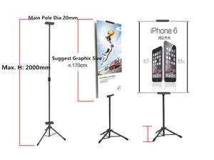 Tripod Telescopic-Holder Poster-Stand Hanging POP Dull Good-Packing Polish Banner-Up-Display