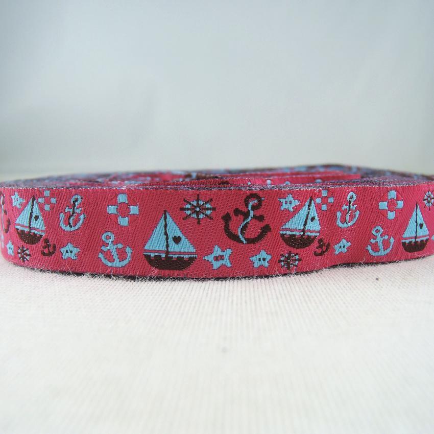 One Metre Dog Jacquard Ribbon Trim 16 mm 100/% Polyester