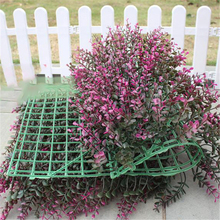 40x60cm Green Grass Artificial Lawn Mat plant wall wedding decoration greenery lawns plastic fake flowers balcony roof