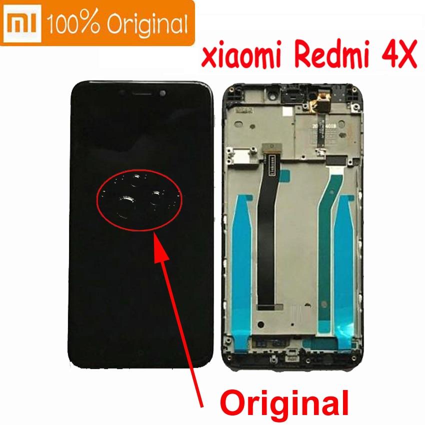 100% Оригинальный Xiaomi Redmi 4X ЖК-экран дисплей панель с сенсорным экраном дигитайзер с рамкой Hongmi 4A сборки 10 точек касания емкостный датчик Pantalla