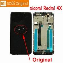 شاشة عرض LCD أصلية من شاومي ريدمي 4X 100% لوحة لمس محول رقمي مع إطار مجموعة هونغمي 4A حساس 10 نقاط بانتيلا