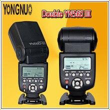 YONGNUO Double YN560 III 2.4G Wireless Flash Speedlite YN560III Flashlight For Canon Nikon Pentax Panasonic Olympus DSLR Cameras