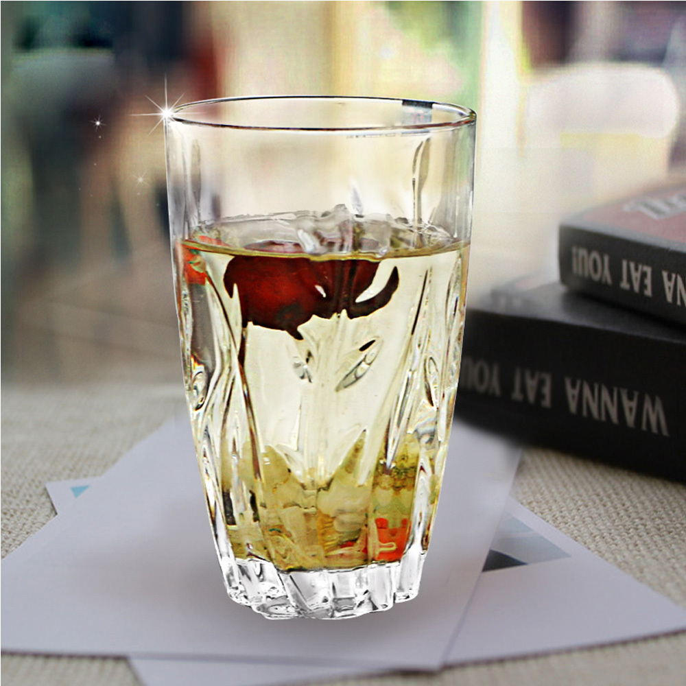 Glass juice cups design - Aliexpress Com Buy 400ml Diamond Leaf Design Clear Wine Glass Beer Tumbler Whiskey Glasses Cup Collins Juice Mug Bar Party Accessories Drinkware From