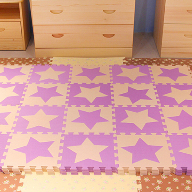Iu Baby Foam Puzzle Play Matkids Star Rugs Pentagram Carpet For