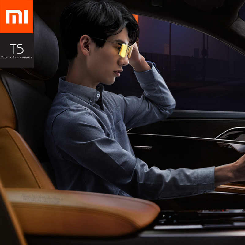 2019 Original Xiaomi TS Driver Night Vision Glasses TAC Lens Zinc Alloy Clip 10g Light Weight for Night Driving Fashion Clear