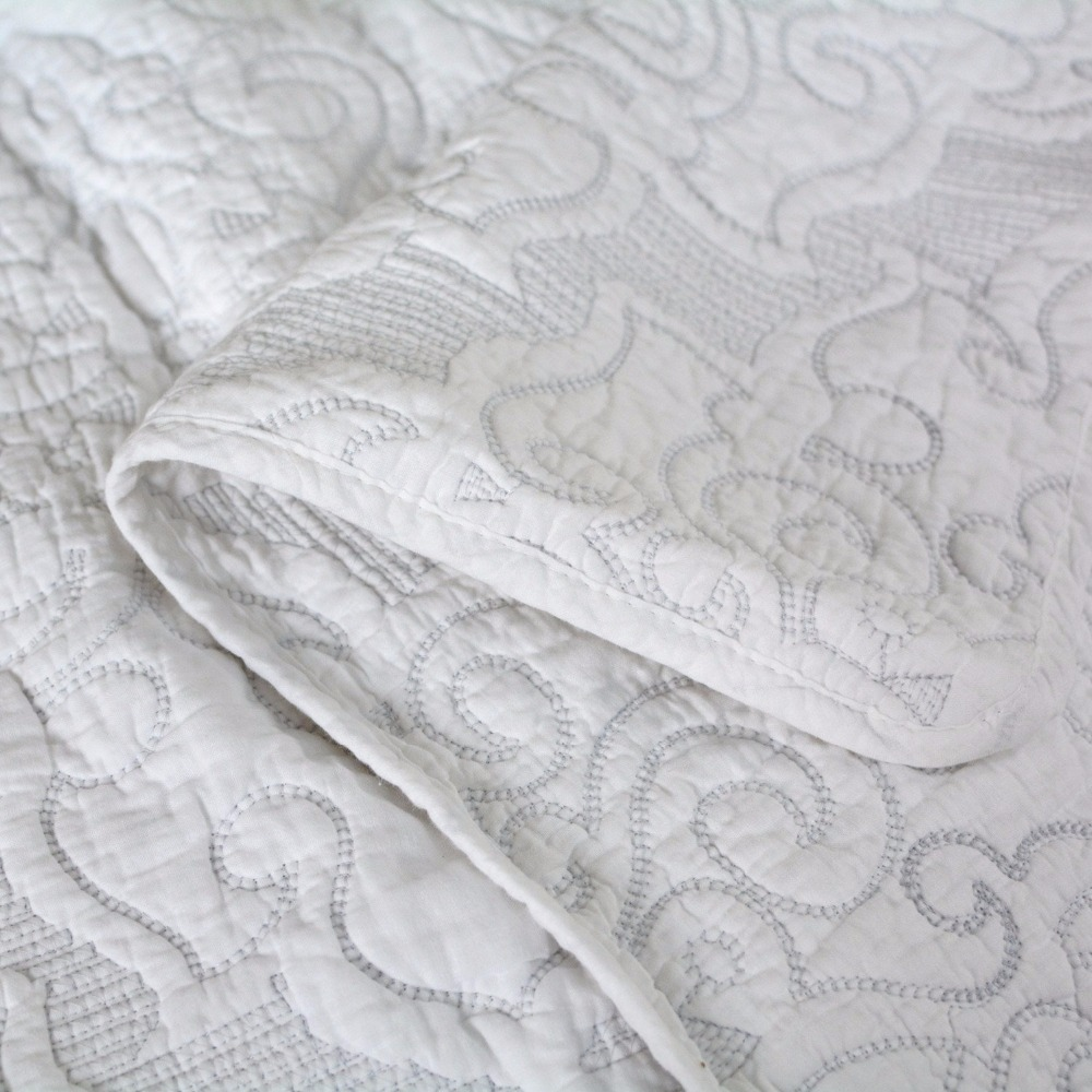 sets bedding vintage floral queen item quilt bedspread covers in bed size fadfay set sheets duvet from comforter home white beige cotton textile
