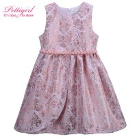 Pettigirl  New Design Baby Summer Dress Girl Vintage Baby Dresses Kids Clothes girl dress children style dresses vintage style
