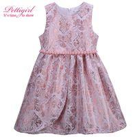 Pettigirl  New Design Baby Summer Dress Girl Vintage Baby Dresses Kids Clothes girl dress children style dresses vintage style