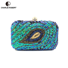 Frauen Vintage Hand perlen Pailletten Kette Handtaschen Damen Blatt Typ Box Tag Kupplung Acryl Solide Partei Abendtaschen BS856