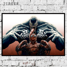 Venom Vs Spider-Man HD Print 12x18 24x36 inch Artwork Poster Wall Picture Silk Canvas Art Poster Paintings Home Decoration(China)