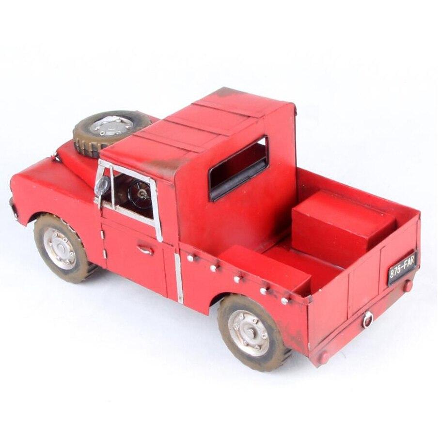 Artesanía venta caliente coloreado dibujo hierro pickup modelo de ...