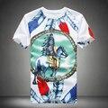 Бесплатная доставка лето бренд майка мужчин мода печатных коротким рукавом рубашки для люди уменьшают подходящую мужская футболка Большой размер 5XL