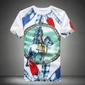 Frete grátis verão marca T Shirt dos homens moda impresso manga curta camisetas para homens Slim Fit homens do algodão t-shirt Plus Size 5XL