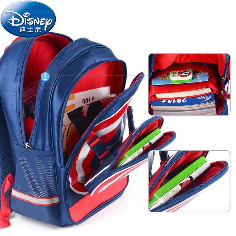 9ef650c69e8b Disney Капитан Америка Водонепроницаемый ортопедический рюкзак школьные  сумки для мальчиков мультфильм школьный Ultralight дети портфель Класс