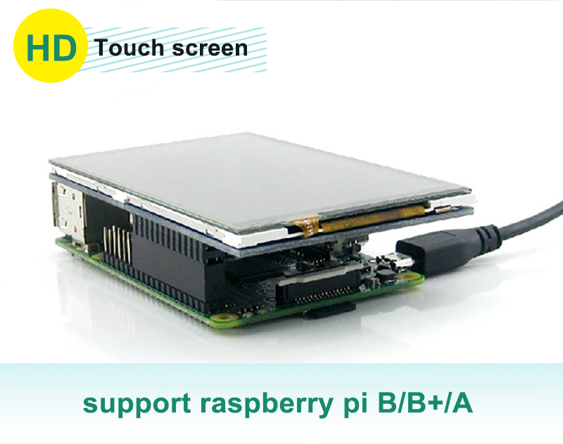 3.5 Inch 480*320 Touch Screen Raspberry Pi Shield Resistance LCD Display Module TFT With Touch Pen XPT2046 Controller