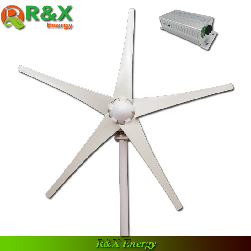 Wind turbine generation 400W, 5 blades wind generator, used for marine, CE,ROHS,ISO9001, with wind controller. usa stock 880w hybrid kit 400w wind turbine generator