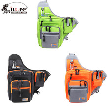 iLure Fishing Pocket Bag Canvas satchel 32*39*12 cm Black/Orange/Green
