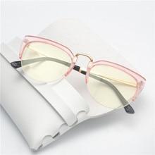 988bada49 MINCL/Moda Óculos Claros Óculos de Armação Anti Luz Azul Mulheres Falso  Óculos Rosa Óculos Ópticos Óculos de Armação Transparent.
