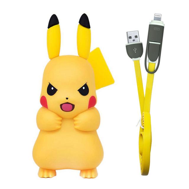 Pokemon Pikachu Adaptador Cargador USB