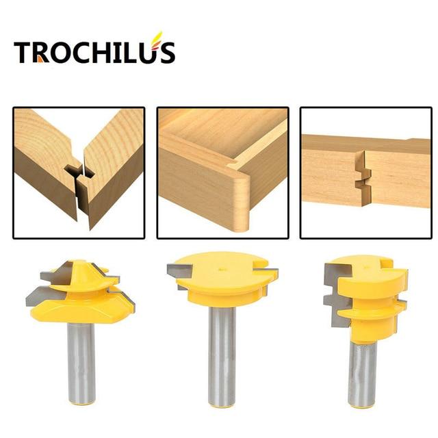 outils bois routeur bit set serrure onglets joint de colle tiroir avant routeur bits pour. Black Bedroom Furniture Sets. Home Design Ideas