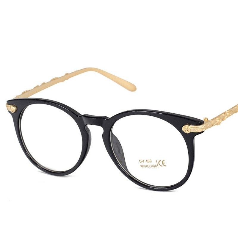2016 metal carved big plain glasses women men brand. Black Bedroom Furniture Sets. Home Design Ideas