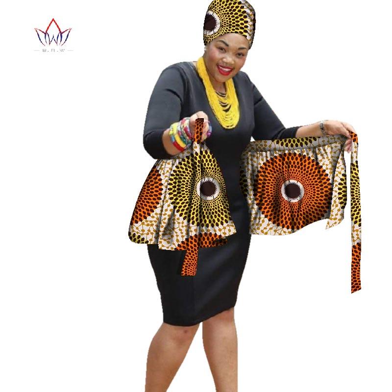 BRW new Wrap Women Skirts Midi african head scaft and High Waist A Line Long Skirt Asymmetrical Female Clothes Korean Ar WYB266 bcbgeneration women s faux wrap skirt
