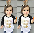 Toddler Kids Baby Girls Clothes Tops Letter Printed Summer Casual Long Sleeve T-shirt Tops Clothing Girl 0-5T