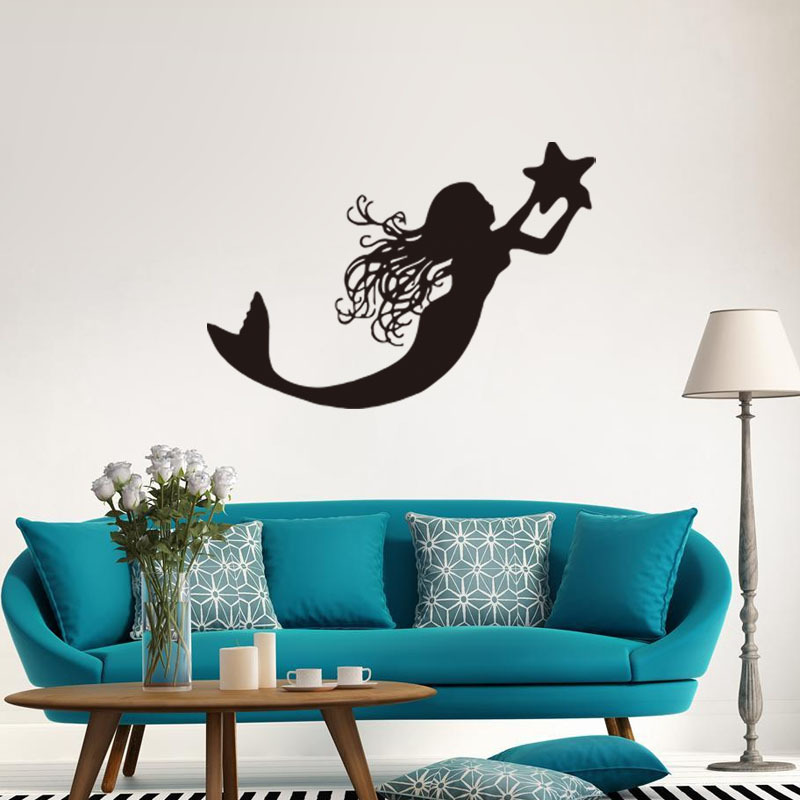 Wall Sticker Art online get cheap mermaid wall sticker -aliexpress | alibaba group