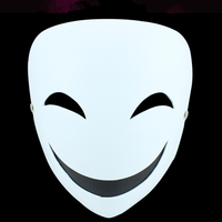 Black Bullet Japan Cartoon Party Mask For Halloween Anonymous Party Mask Good Quality Fancy Dress Costume