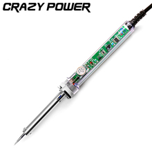 Crazy Power 60W Temperature Adjustable Electric Welding Solder Soldering Iron Handle Heat Pencil Tool Wholesale EU Plug