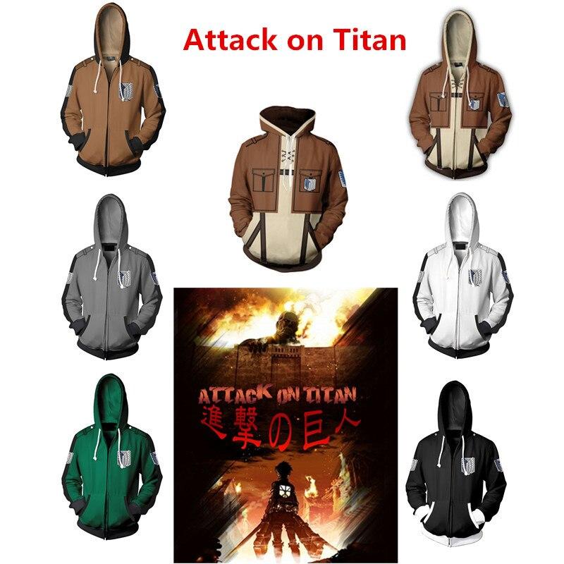 Shingeki no Kyojin Attack on Titan Eren Jaeger Levi Ackerman Cosplay Costumes Hoodies Women Men Pullover Jackets Sweater New