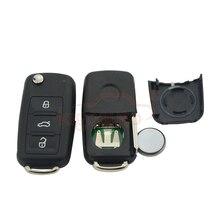 Фотография 5K0837202AD Remote key 3 button HU66 434Mhz 5K0 837 202 AD for 2012 VW Passat  Polo Golf Jetta  Beetle Tiguan flip key