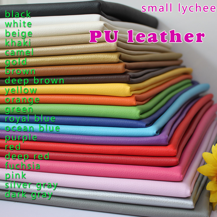 Small Lychee Pu Leather Faux Leather Fabric Sewing Artificial