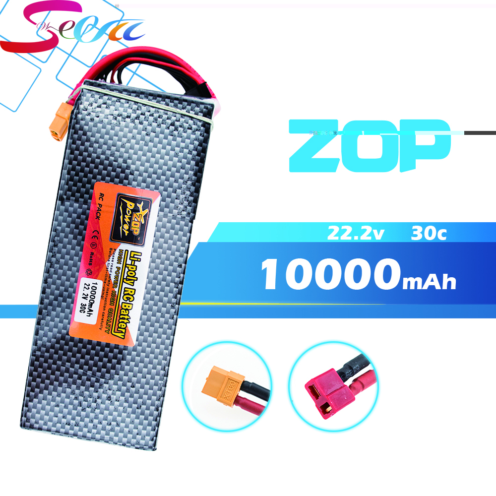 5PCS 22.2V 6s ZOP Lipo battery 10000mAh 30C max 35C Xpower XT60 T EC5 XT90 plug for rc drone Helicopter Airplane parts отвертка квт 67378